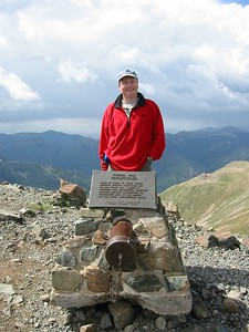 Me standing at the peak of Mt Wheeler. I hiked up from Ditch Cabin and back in the same day. Started late due to weather. I was really glad to get back to the truck and rest! That was about 8 thousand feet of elevation in one day!
